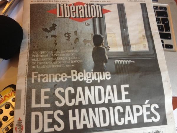 Libé dénonce les conditions d'accueil des personnes handicapées en Belgique