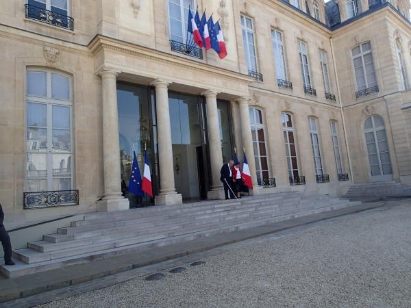 Quatorze associations étaient reçues à l'Élysée mercredi 2 juillet - Crédit Photo : Grégoire Molle