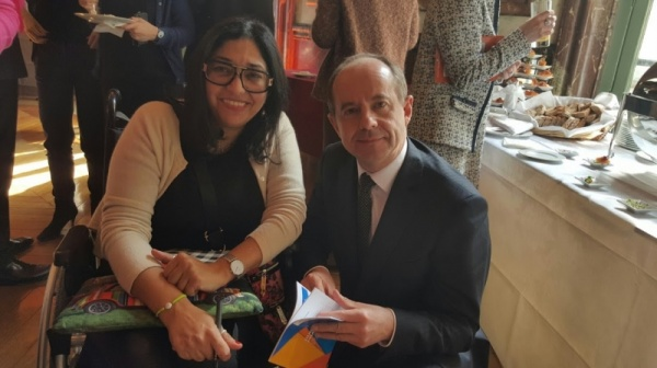 Rahma Sophia Rachdi et Jean-Jacques Urvoas en 2016