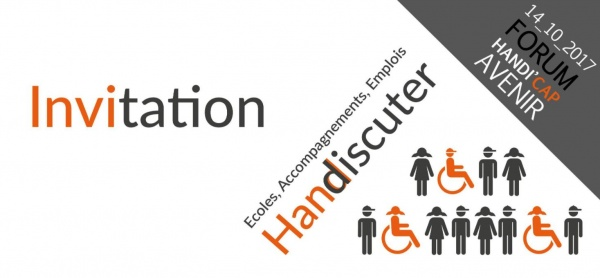 Affiche du forum de l'association du handicap