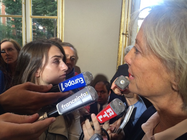 Sophie Cluzel répond aux questions de la presse lors de la réunion du CIH (20 septembre)